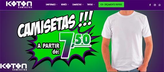 dfc6aeb7c Camisetas Promocionais - O Melhor do Bras